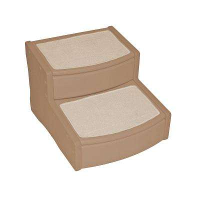 22 in. L x 20 in. W x 16 in. H Easy Steps II Extra Wide Pet Stair in Tan