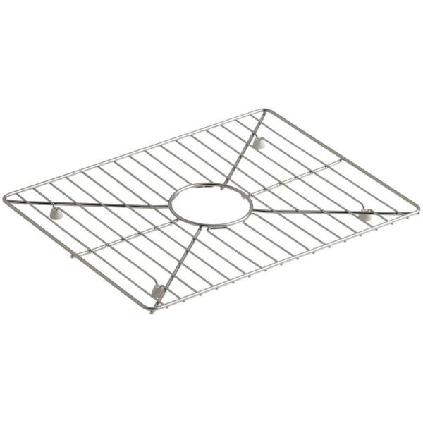Poise 17-3/16 in. x 13-3/16 in. Bottom Sink Bowl Rack for Large Bowl