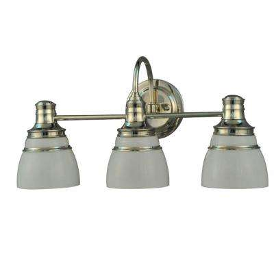 Seal Harbor Collection 3-Light Polished Nickel Plated Vanity Light