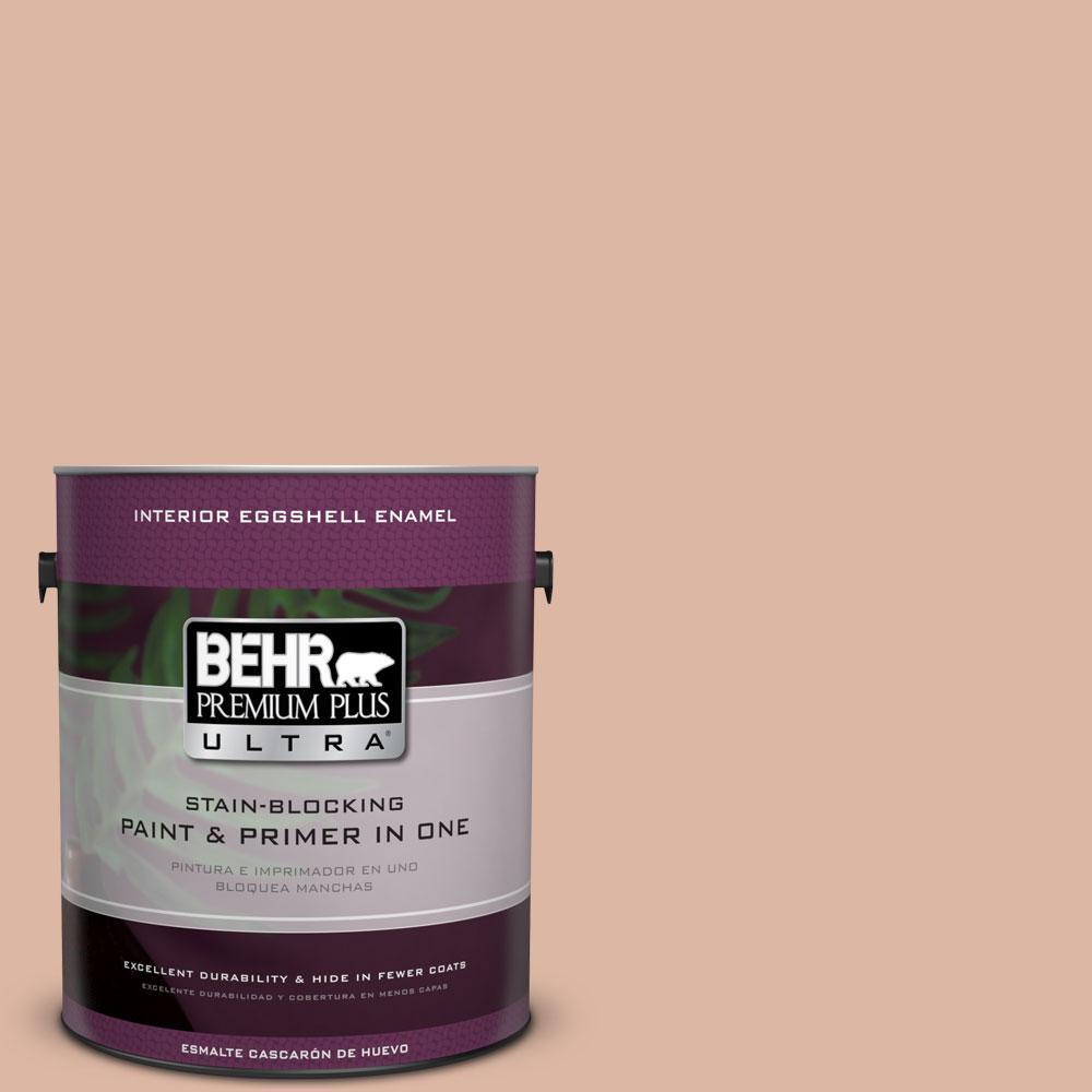 BEHR Premium Plus Ultra 1-gal. #ECC-60-1 Coral Bay Eggshell Enamel Interior Paint