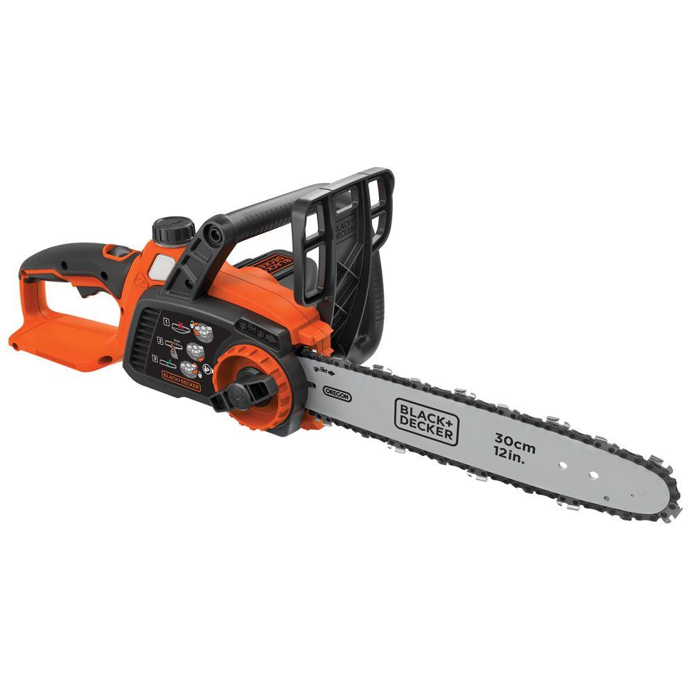 12 in. 40-Volt MAX Lithium-Ion Cordless Chainsaw - Battery and Charger