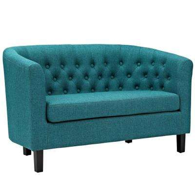 Prospect Teal Upholstered Fabric Loveseat