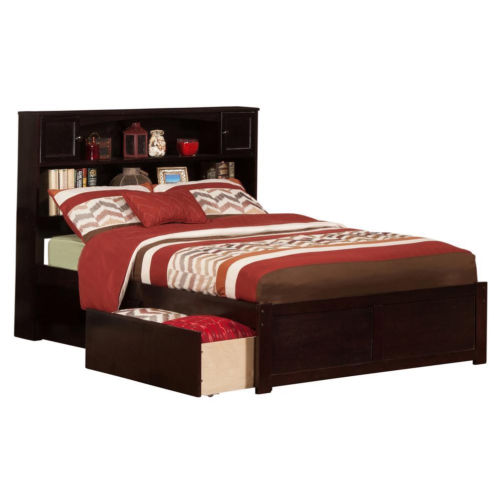 Atlantic Furniture Newport Espresso Full Platform Bed With