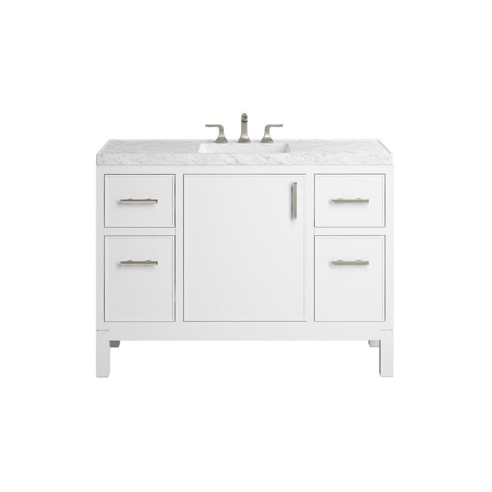 KOHLER Rubicon 48 in. Bath Vanity Single Basin Vanity Top in White with White Basin