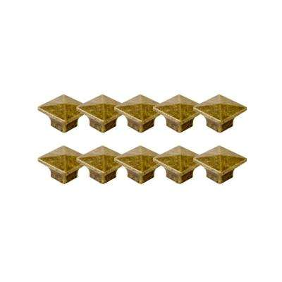 Crown 1-2/5 in. Antique Brass Knob Value Pack (10 per Pack)