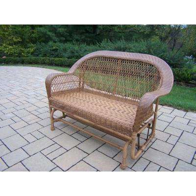 Coventry Natural Wicker Outdoor Glider
