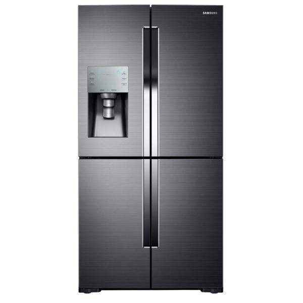 Samsung 35.75 in. W 28.1 cu. ft. French Door Refrigerator in Fingerprint Resistant Black Stainless