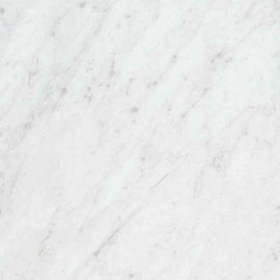 3 in. x 5 in. Laminate Countertop Sample in White Carrara with Standard Fine Velvet Texture Finish