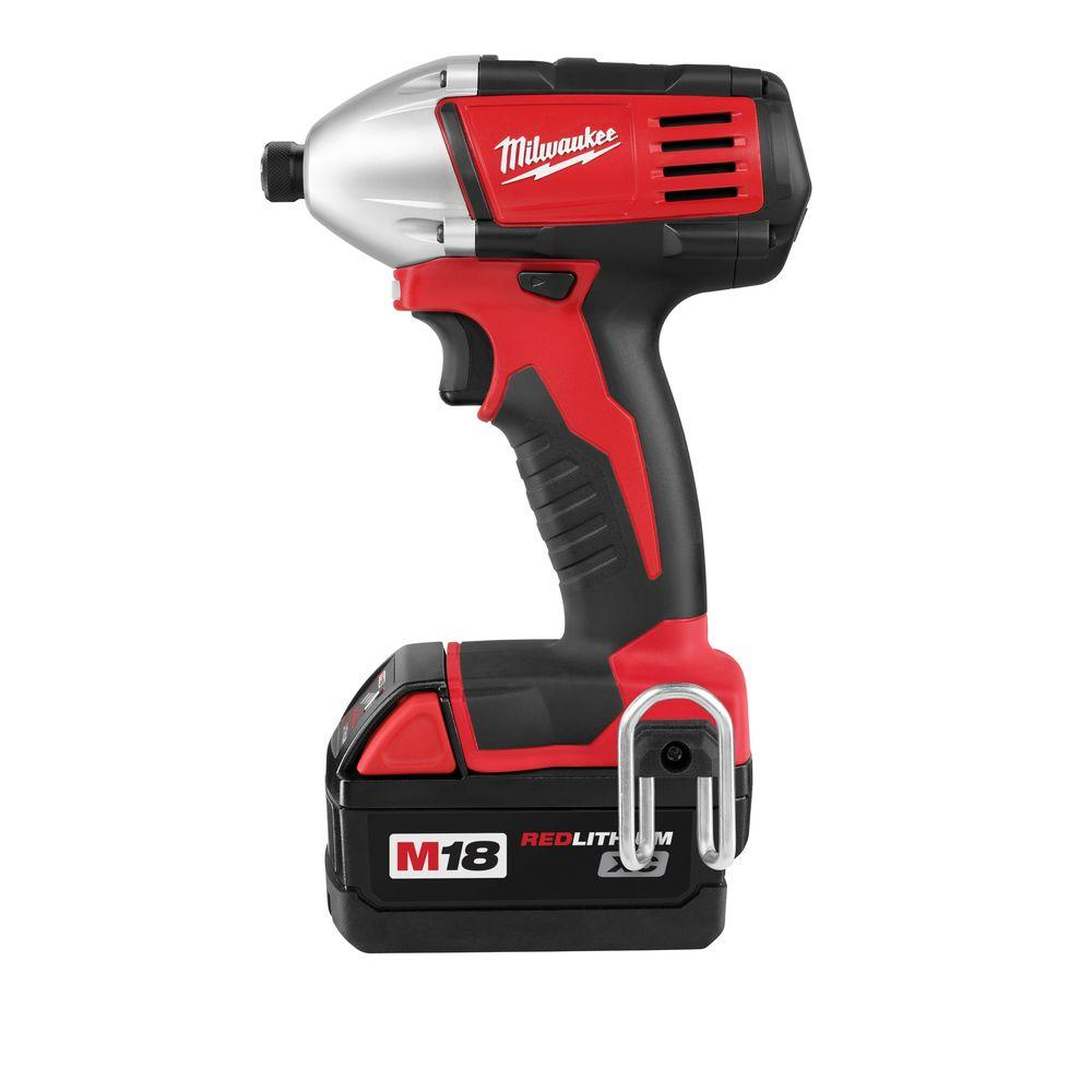 Milwaukee M18 18-Volt Lithium-Ion 1/4 in Cordless Hex Impact Driver XC Battery Kit