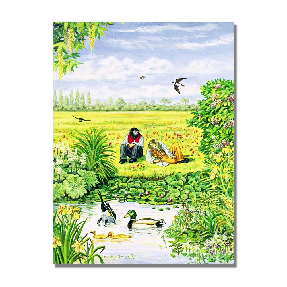 Trademark Fine Art 24 in. x 32 in. By the Duck Pond Canvas Art-DISCONTINUED