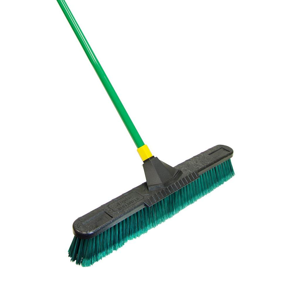 Quickie Bulldozer 24 in. Multi-Surface Pushbroom with Scraper (4-Pack)