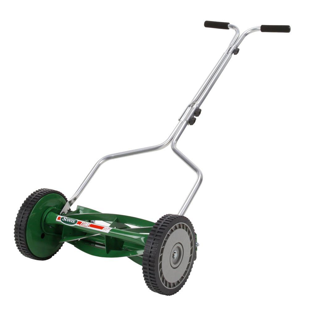 Scotts 14 in 5 blade manual walk behind reel mower 304 for Depot moers