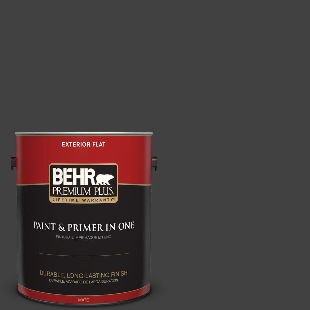 1-gal. #BNC-38 Spade Black Flat Exterior Paint