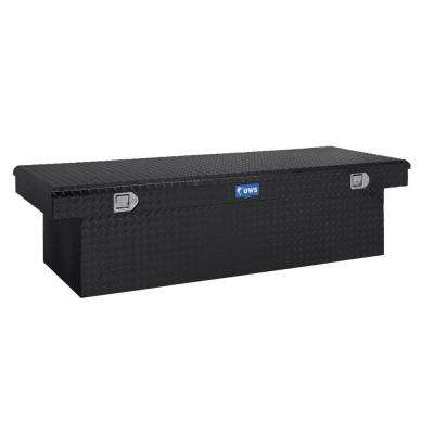 69 in. Aluminum Black Single Lid Deep Extra Wide Crossover Tool Box
