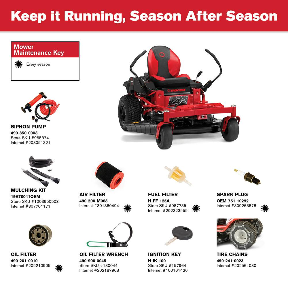 Troy-Bilt Mustang 42 in  679 cc V-Twin OHV Engine Gas Zero Turn Riding  Mower with Dual Hydrostatic Transmision and Lap Bar Control