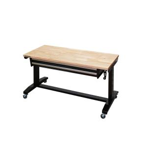 Husky 52 In Adjustable Height Workbench Table With 2