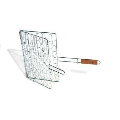 Chrome Flex Grill Basket Rosewood Handle