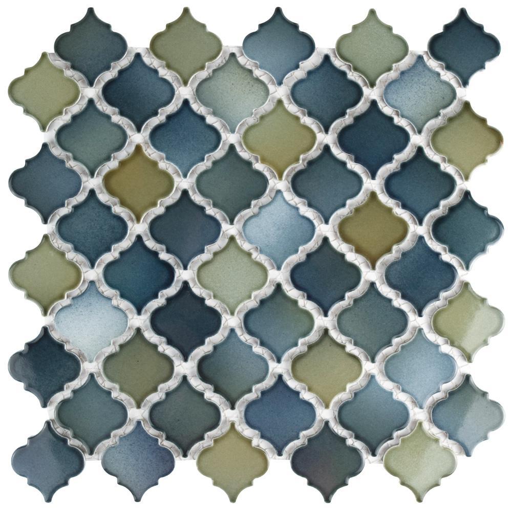 Merola Tile Hudson Tangier Atlantis 12-3/8 in. x 12-1/2 in. x 5 mm Porcelain Mosaic Tile