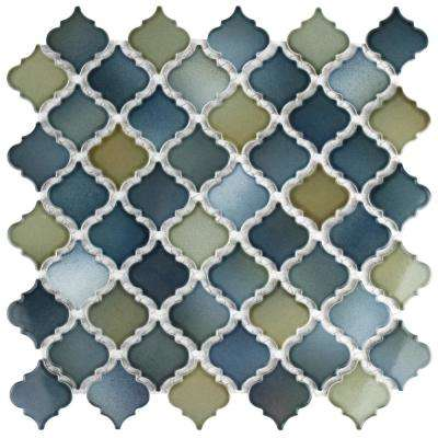 Hudson Tangier Atlantis 12-3/8 in. x 12-1/2 in. x 5 mm Porcelain Mosaic Tile
