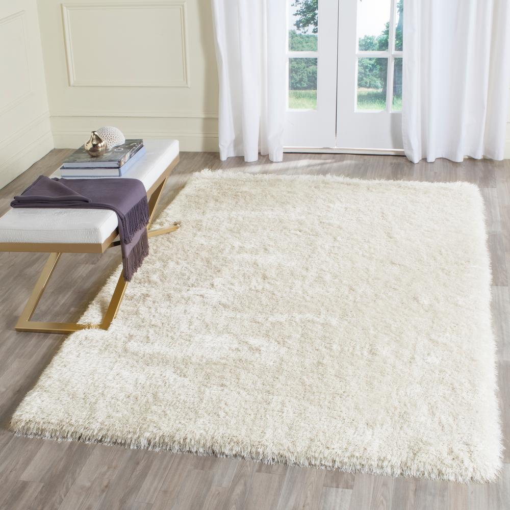 Safavieh Memory Foam Plush Shag Ivory 3 ft. x 5 ft. Area Rug-SGP256A ...