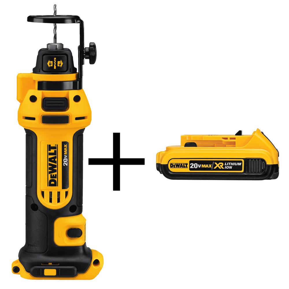 20-Volt MAX Lithium-Ion Cordless Drywall Cut-Out Tool (Tool-Only) with 2Ahr