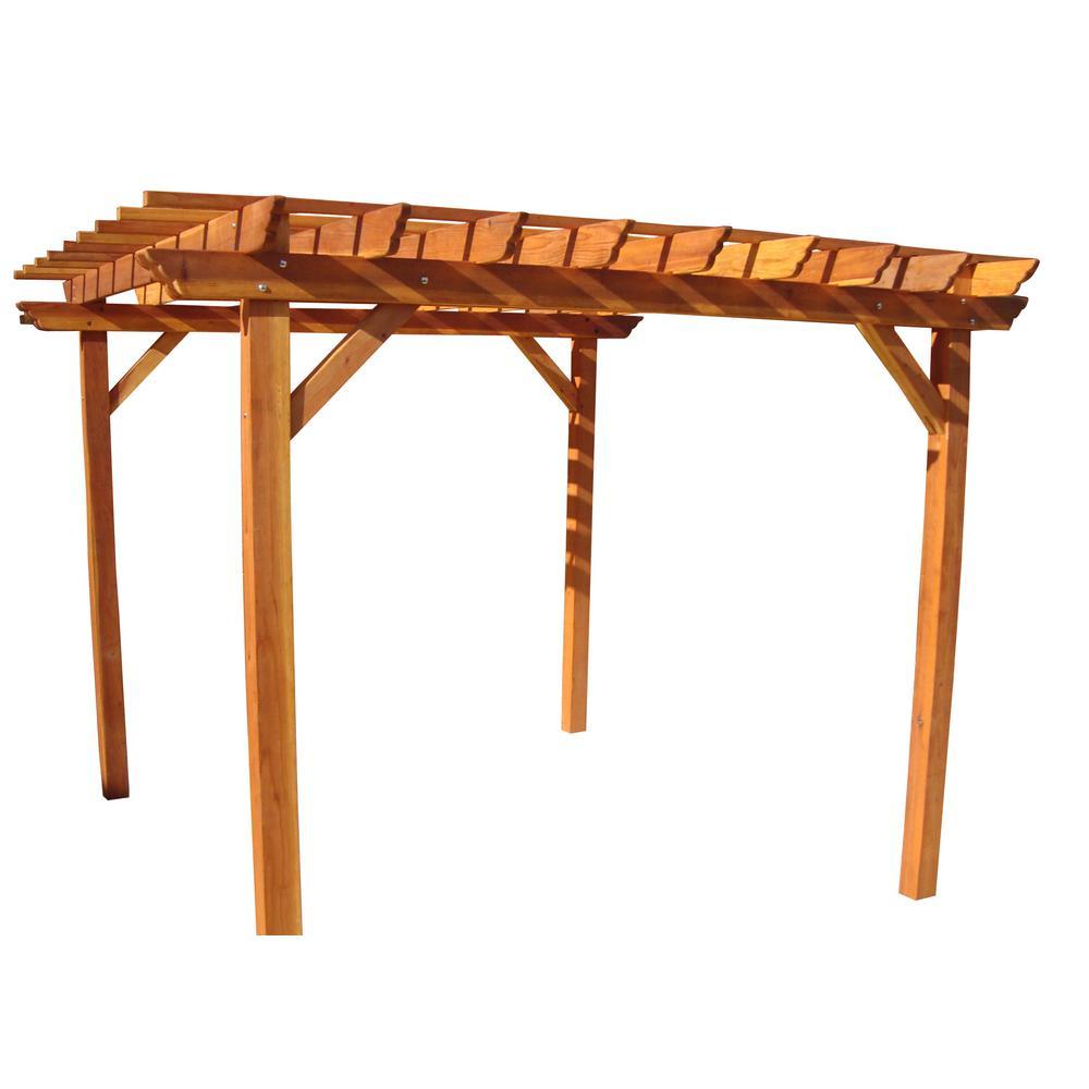 14 ft. x 14 ft. 1905 Super Deck Redwood Pergola by