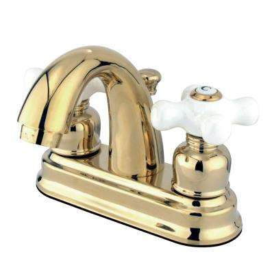 Restoration 4 in. Centerset 2-Handle Bathroom Faucet in Polished Brass