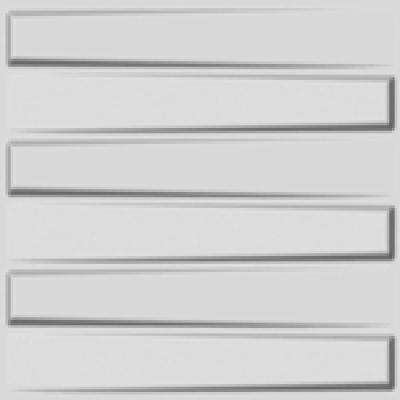 19.6 in. x 19.6 in. x 1 in. Off-White Plant Fiber Brooklyn Design Glue-On Wainscot Wall Panels (10-Pack)