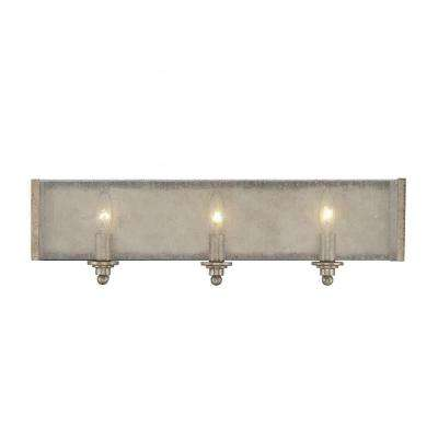 Dannelly 3-Light Oxidized Silver Bath Vanity Light