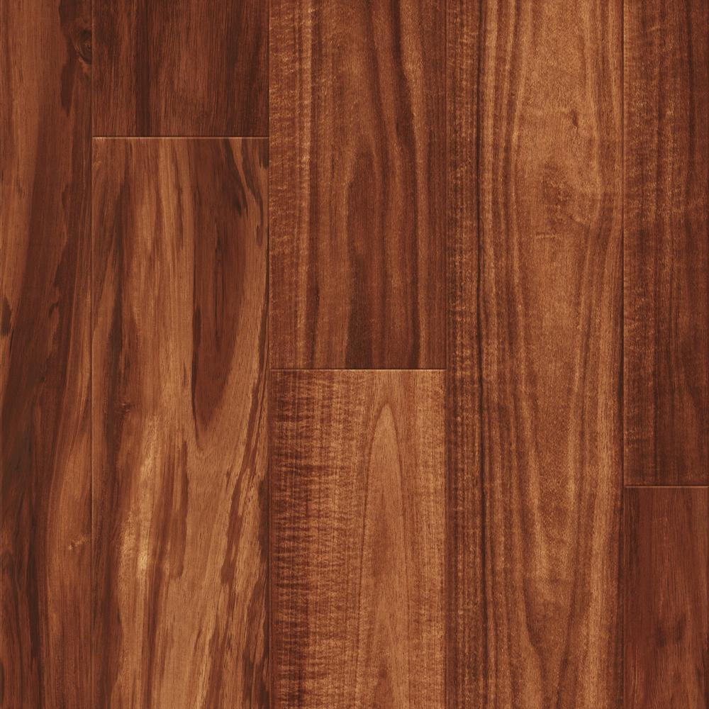 Kronotex sherwood heights rockland walnut 8 mm thick x 7 6 for Teak wood flooring