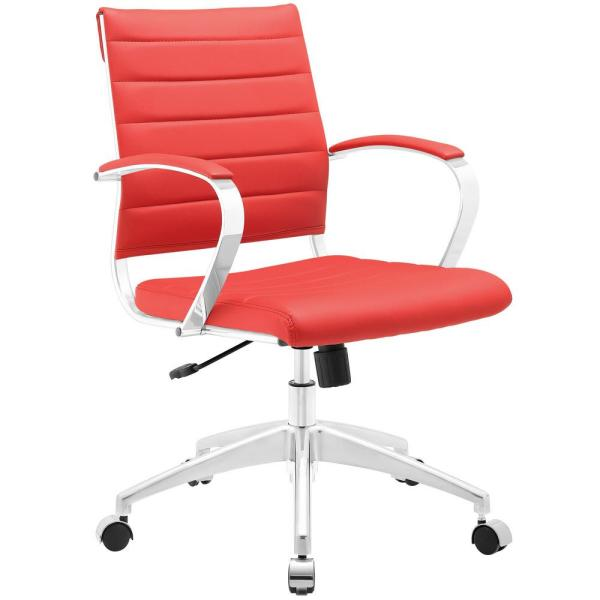 MODWAY Jive Mid Back Office Chair in Red EEI-273-RED