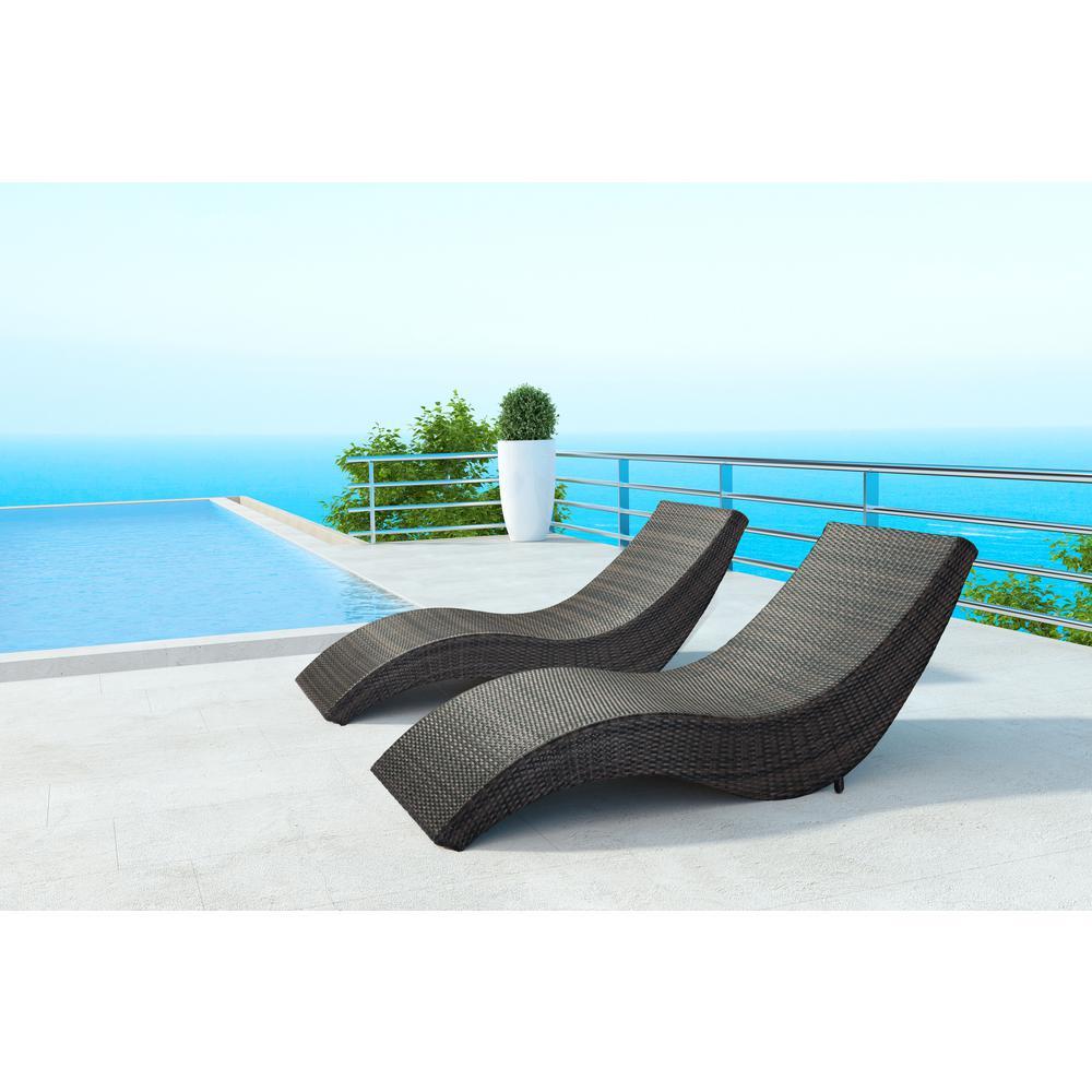 Hassleholtz Beach Aluminum Outdoor Chaise Lounge