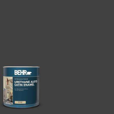 1 qt. #1350 Ultra-Pure Black Satin Enamel Urethane Alkyd Interior/Exterior Paint