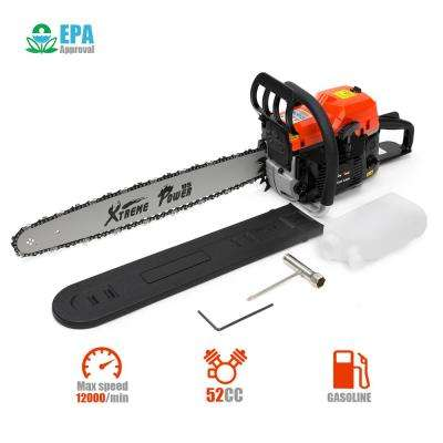 20 in. 52 cc 2-Cycle Gas Chainsaw Wood Cutter with Automatic Chain Oiler