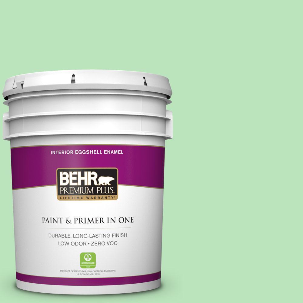 BEHR Premium Plus 5-gal. #P390-3 Mint Parfait Eggshell Enamel Interior Paint