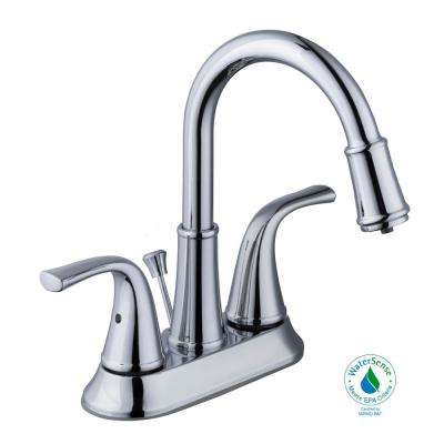 Focus 4 in. Centerset 2-Handle LED High-Arc Bathroom Faucet in Chrome