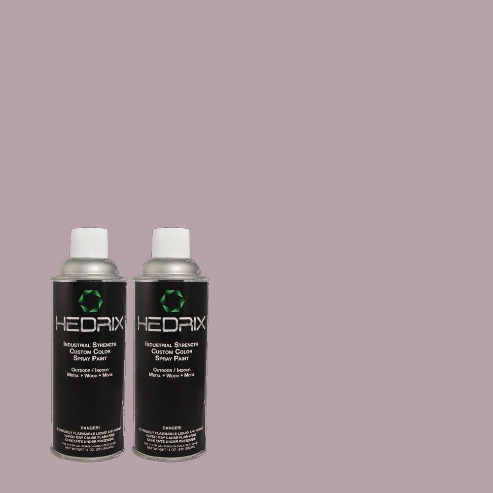 Hedrix 11 oz. Match of PPU16-12 Charm Flat Custom Spray Paint (8-Pack)