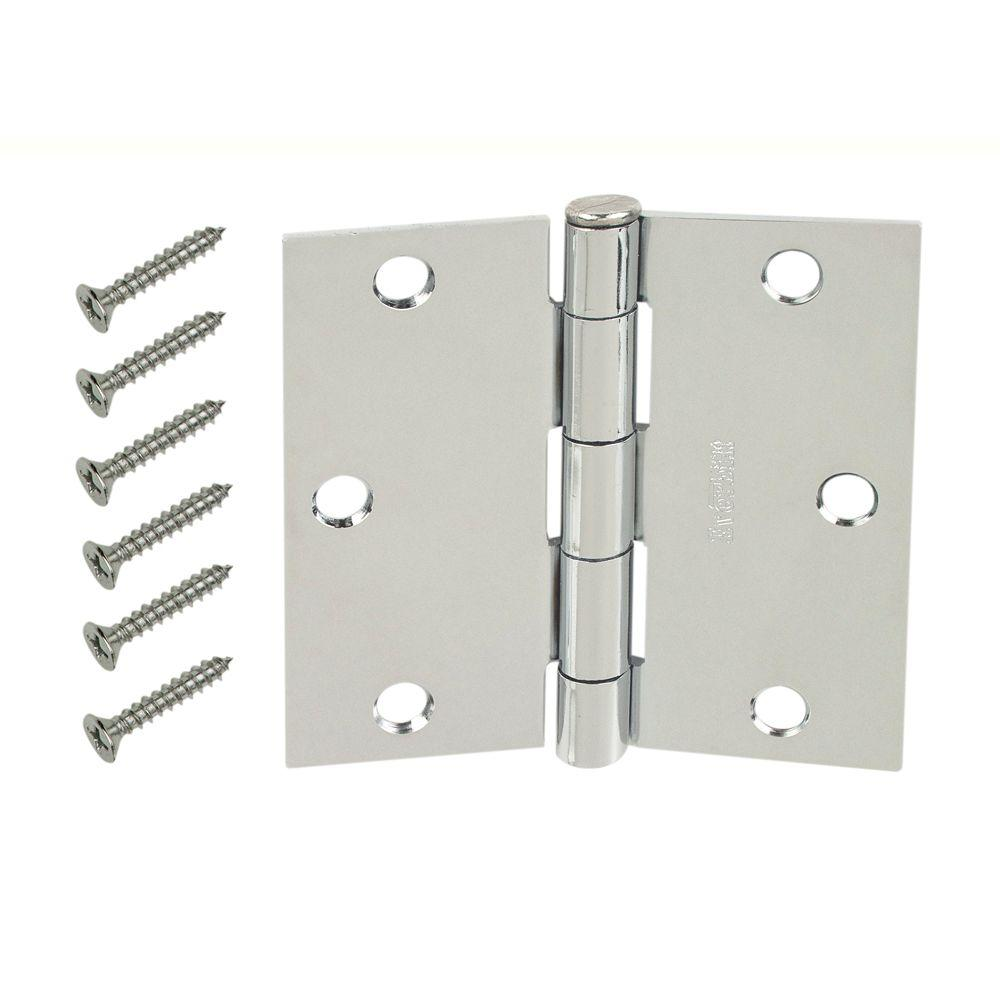 Genial Chrome Square Corner Door Hinge