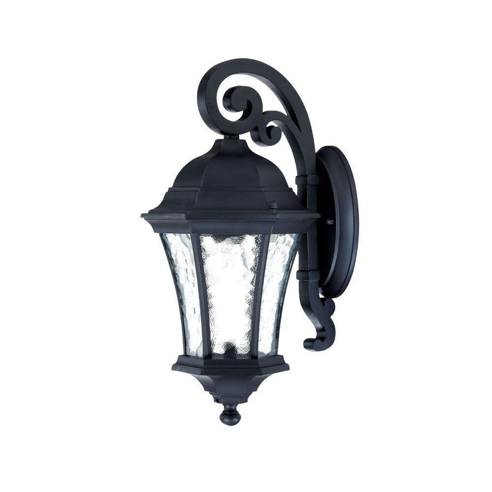 Waverly Collection 1-Light Matte Black Outdoor Wall-Mount Light Fixture