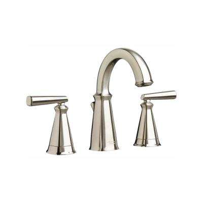 Edgemere 8 in. Widespread 2-Handle Bathroom Faucet with Metal Speed Connect Drain in Brushed Nickel