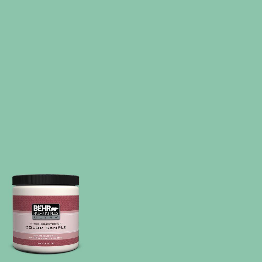 BEHR Premium Plus Ultra Home Decorators Collection 8 oz. #HDC-WR14-8 Spearmint Frosting Flat/Matte Interior/Exterior Paint Sample