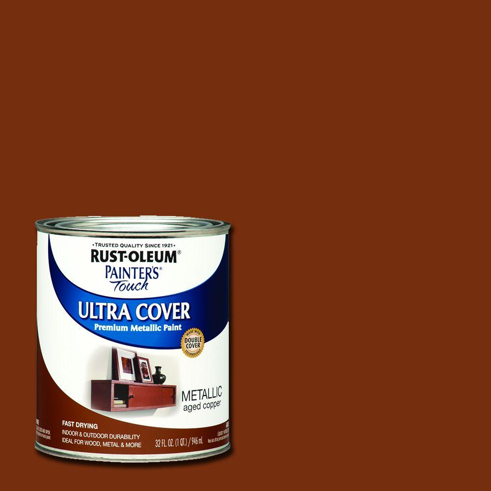 32 oz. Ultra Cover Metallic Aged Copper General Purpose Paint (Case