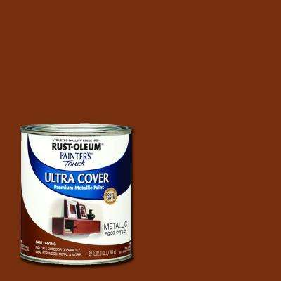 32 oz. Ultra Cover Metallic Aged Copper General Purpose Paint (Case of 2)