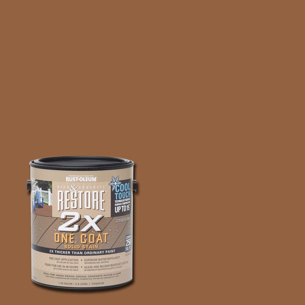 Rust Oleum Restore 1 Gal 2x Cool Touch Timberline Deck