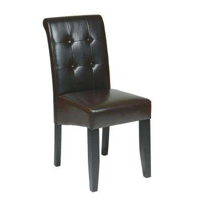 Espresso Eco Leather Parsons Dining Chair