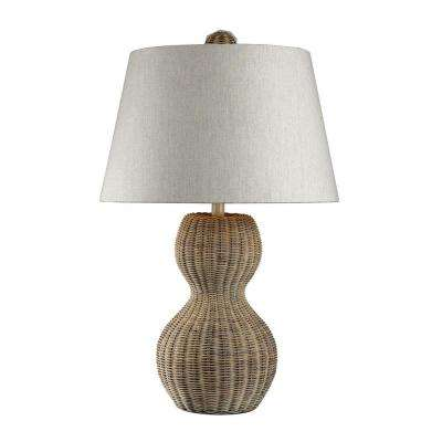Sycamore Hill 26 in. Light Rattan Natural Table Lamp