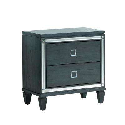 Clover Gray Contemporary Style Nightstand
