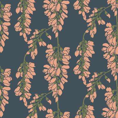 Nomad Collection Heart Breaker in Black Moss Removable and Repositionable Wallpaper
