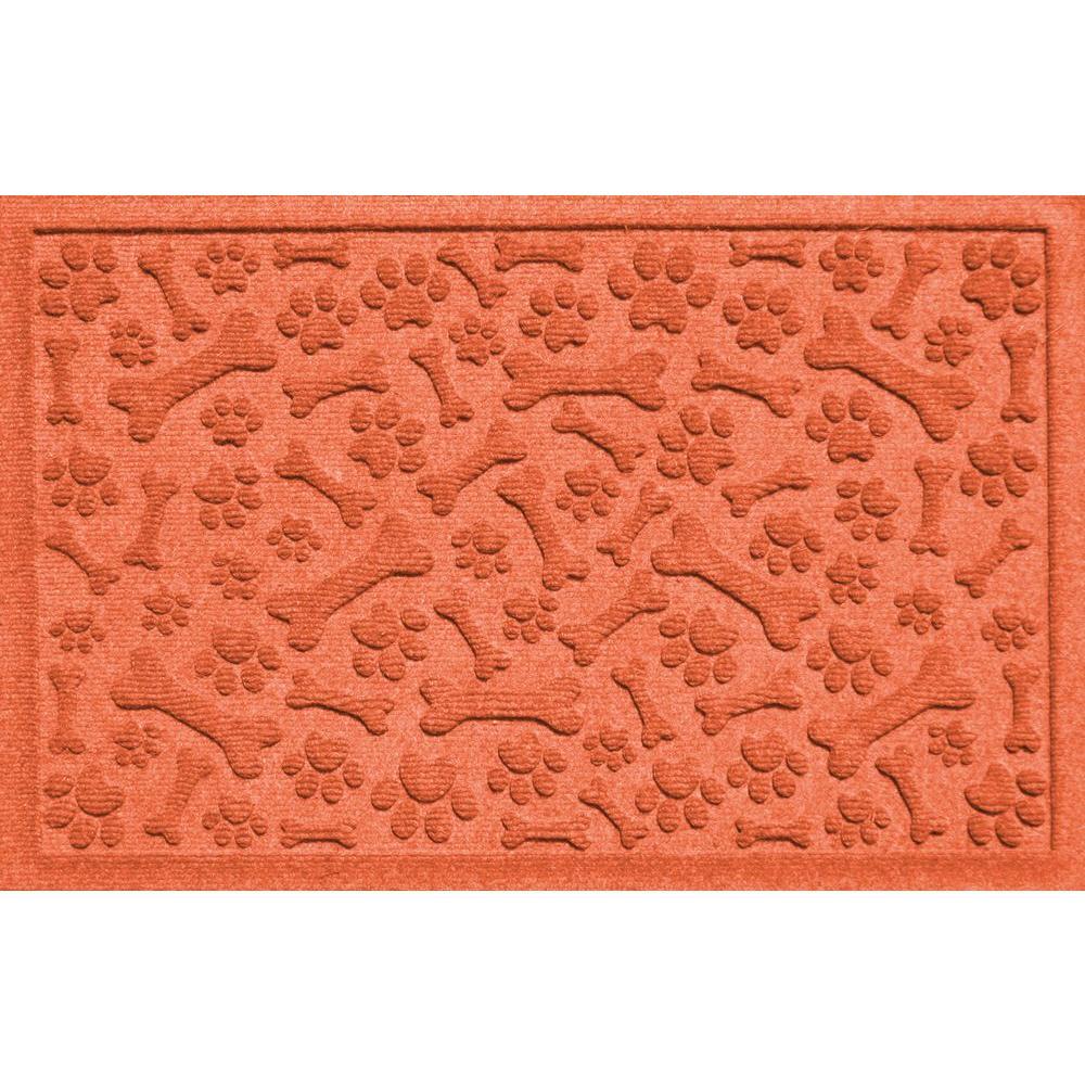Aqua Shield Paws and Bones Orange 17.5 in. x 26.5 in.