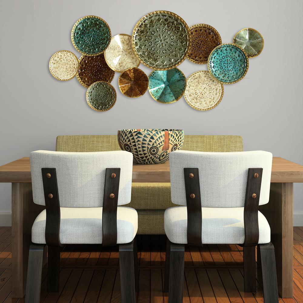 Stratton Home Decor Multi Metal Plate Wall